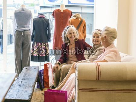 senior women taking a break in