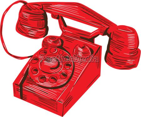 telefono disegno di vintage
