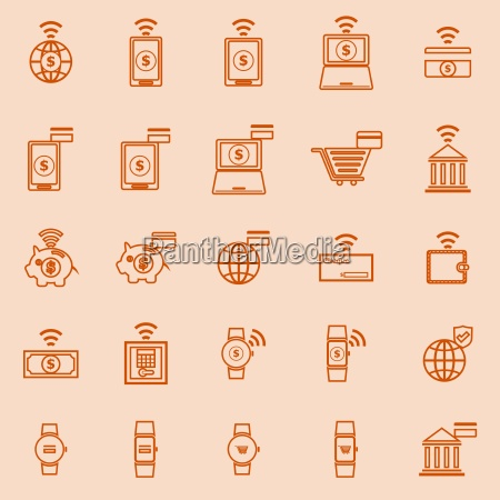 start up line icons background