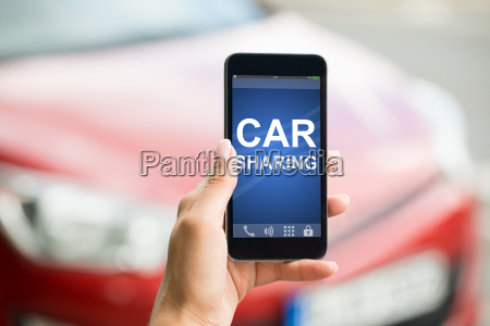smart phone with car sharing app