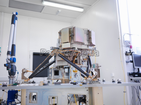 part of satellite during assembly