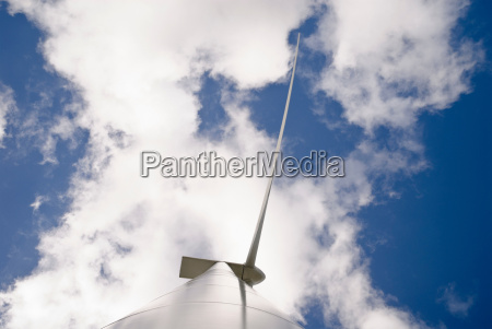 low angle view of wind turbine