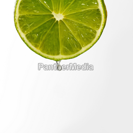 juice dripping from lime