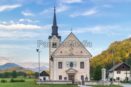 catholic church in bohinjska bela village