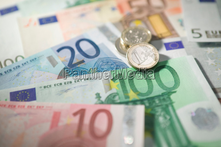 euro currency and coins