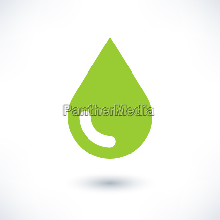 green color drop icon with gray