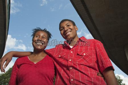 teenage boy with mother