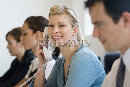 a business woman on the phone