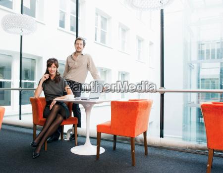 portrait of business couple