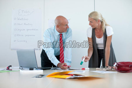 business people talking in conference