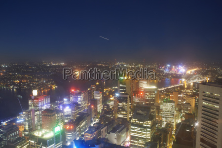 high angle view of sydney at