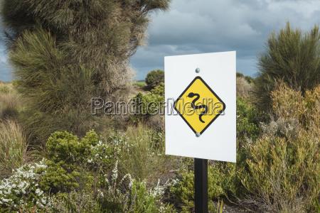 snake warning roadsign victoria australia