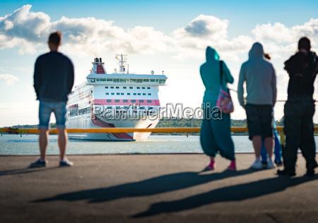ferry arriving in turku finland