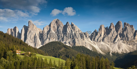 rocky mountains in rural landscape