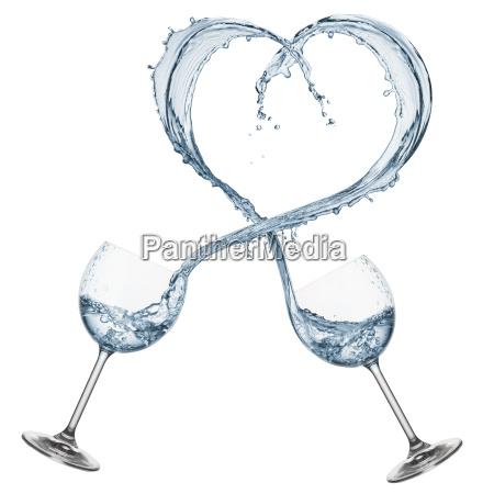 water shaped heart