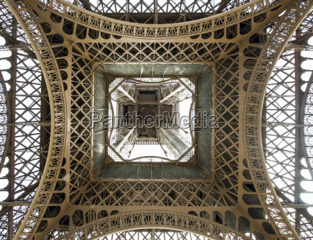 low angle view with eiffel tower