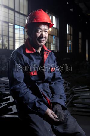 portrait of man working in cast