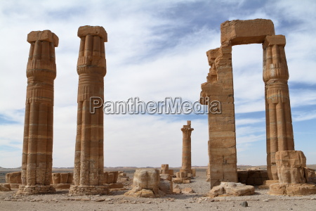 the temple ruins of soleb in