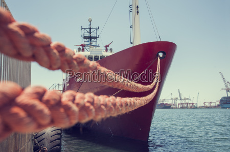 anchored ship cape town south africa