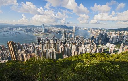 high angle view of hong kong