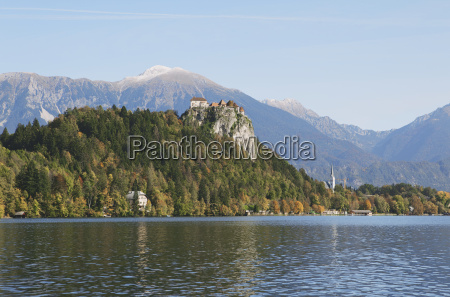 view, of, fortress, , lake, bled, , slovenia - 18402092