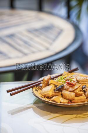 high angle view of chinese tofu