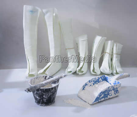 moulds for orthopaedic leg supports in