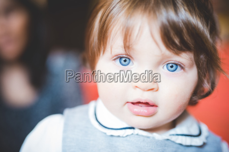 close up portrait of female toddler