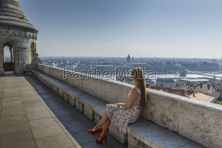 mid adult woman looking at view