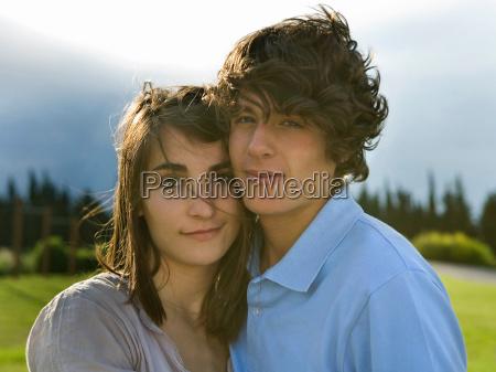 teen couple portrait