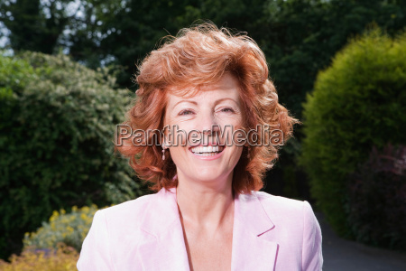 portrait of smiling mature woman
