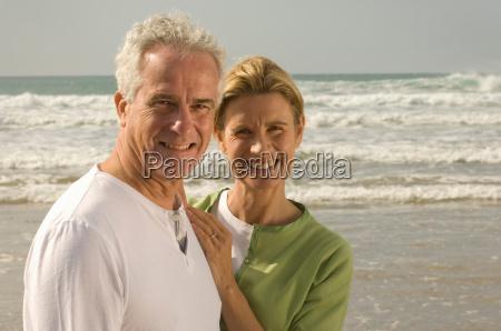 portrait of couple on a beach