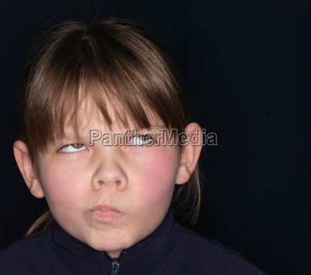 girl making a grimace close up