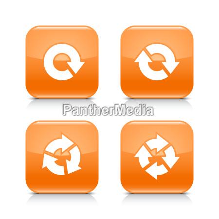 orange icon refresh reload rotation repeat