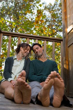 couple sitting on deck