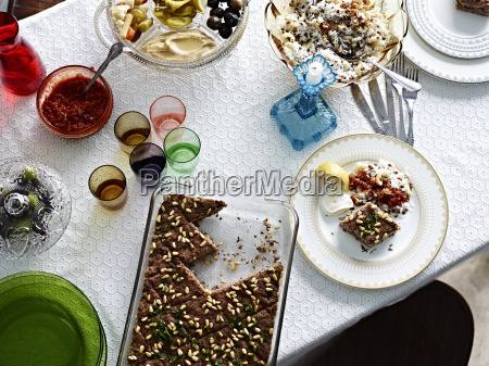 still life with kibbeh and bowl