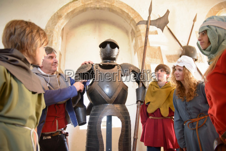 students and teacher with armour bolton