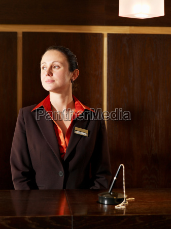 young female hotel receptionist