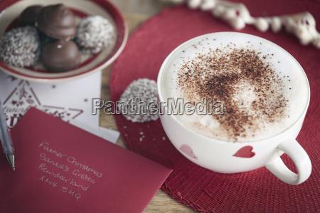 coffee invitation card and coconut coated