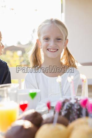 portrait of happy girl with birthday