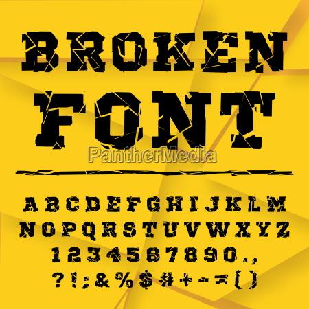 broken alphabet full set