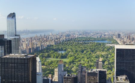 high angle view of midtown manhattan