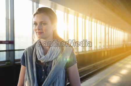 mid adult woman wearing scarf on
