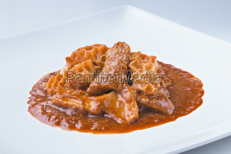 spanish cuisine callos beef tripes with