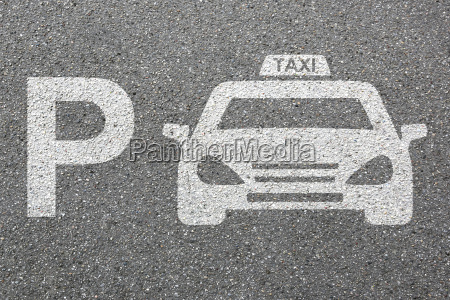 parking taxi car parking sign car