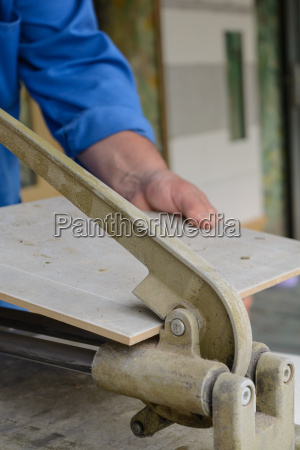 skilled workers processed tile