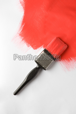 a paintbrush and painted brush stroke