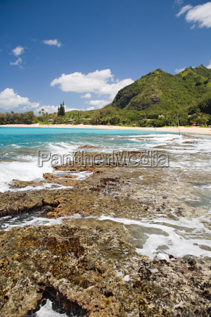rocky beach in kauai