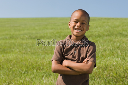 boy in a field