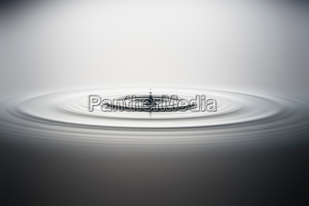 water droplet falling into water